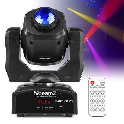 BeamZ Panther 70 LED Moving Head Spot Light Gobo Open Beam DMX DJ Stage Lighting • 140£