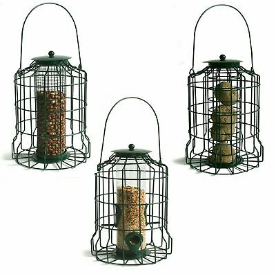 Squirrel Proof Guard Bird FAT SNAX/SEED/NUT Feeder Garden Hanging Tray Gardman • 27.95£