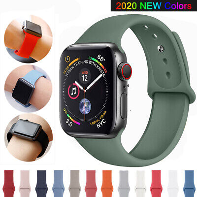 $ CDN3.87 • Buy Sports Silicone Watch Band Strap For Apple Watch Series 5 4 3 2 1 38/40/42/44mm