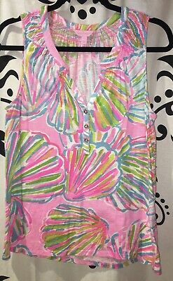 $24 • Buy EUC Lilly Pulitzer Size Large Essie Shellabrate Knit Tank Top
