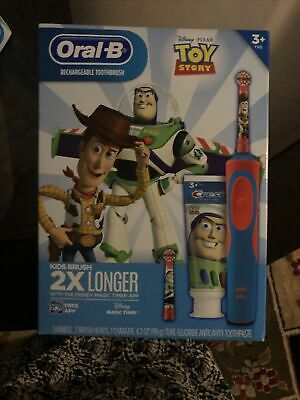 AU26.71 • Buy Oral-B Kids Toy Story Rechargeable Electric Toothbrush Buzz & Woody