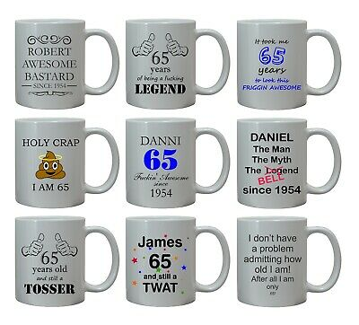 £8.95 • Buy 65th FUNNY RUDE BIRTHDAY GIFT FOR HIM MENS MUG PERSONALISED AGE 65 BROTHER UNCLE