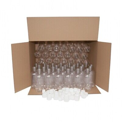 £22.86 • Buy Clear PET Small Plastic Bottles With White Caps - 330ml - Pack Of 70 - Homebrew