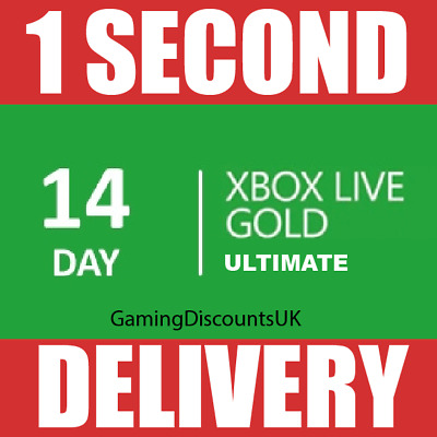 $5.15 • Buy 14 DAYS XBOX LIVE GOLD MEMBERSHIP ULTIMATE PASS - Instant Delivery, Xbox One 360