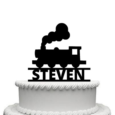 Personalised Steam Train Gloss Acrylic Cake Topper Any Name • 9.99£