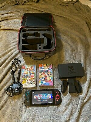 $290 • Buy Nintendo Switch Bundle (used) 3 Games, Case, Controller Bumpers
