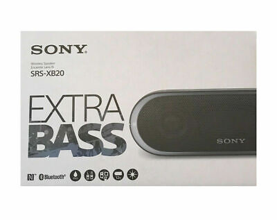 $43.90 • Buy NEW Sony Portable Wireless Bluetooth Speaker SRSXB20/BLK (Black)