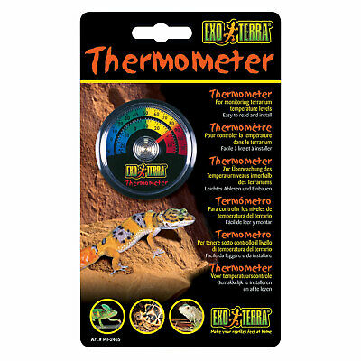 £4.69 • Buy Exo Terra Analogue Dial Thermometer Stick On