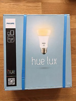 AU69.77 • Buy New / Neuf / Philips Hue Lux LED Lampe E27 Starter Avec / With / Mit Bridge 1.0