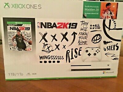 $150 • Buy Xbox One S 1TB NBA 2K19 Bundle And Madden 20 Included