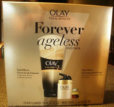 $12 • Buy Olay Total Effects Forever Ageless Duo Pack, Cleanser & Moisturizer, NIB