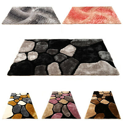 Mordern 3D Pebble Stone Rug Shaggy Area Rug Dining Room Carpet Floor Mat • 63.95£