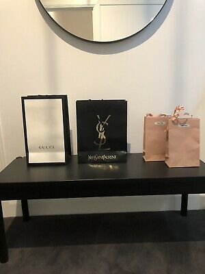 AU29 • Buy X4 AUTHENTIC Paper Designer Shopping Bags In Gucci, YSL, X2 Miu Miu