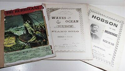 $7.50 • Buy Early 1900's Antique Piano Sheet Music E.T. Paull F. Triffet The Hurricane