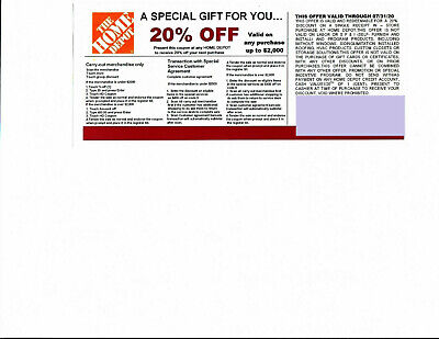$2.25 • Buy  20% -OFF HOME DEPOT Competitors Coupon At Lowe's Expires 07/31/20