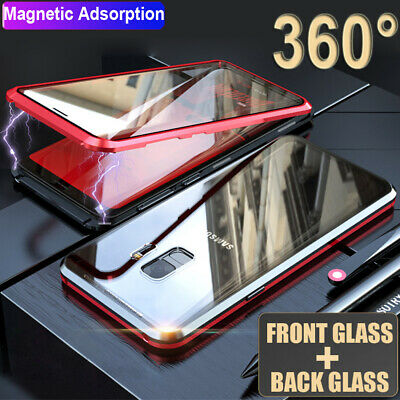 $ CDN10.57 • Buy 360° Full Body Double Sides Glass Magnetic Case For Samsung Galaxy S8 S9 10 Plus