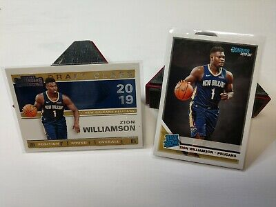 $2.25 • Buy Zion Williamson (2) NBA Rookie Cards Contenders (#1) And Donruss (#201)