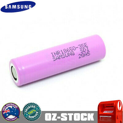 AU16.98 • Buy Samsung 35E INR 18650 20A 3500mAh 3.7V Rechargeable Lithium Battery