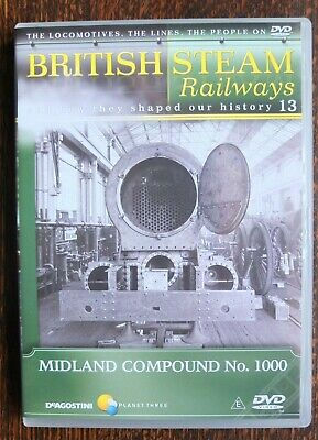BRITISH STEAM RAILWAYS DVD  No 13 MIDLAND COMPOUND 1000 /  FIREHOLE DOOR . • 2.99£