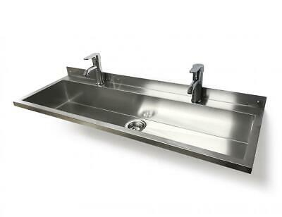 £299.99 • Buy SQUID 1200 TROUGH Hand Wash SINK LEVER MIXER TAPS Stainless Steel Wall Mounted B