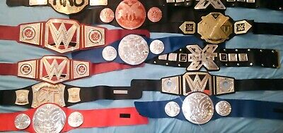 $99 • Buy Lot Of 12 WWE Kids Toy Wrestling Belts Heavy Weight Champ Kids Size