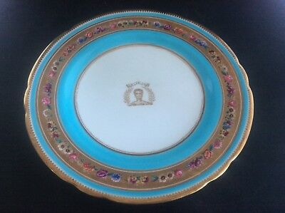 Antique C1880 Cabinet Plate Phillips 369 Oxford St London MINTON Porcelain C19th • 95£