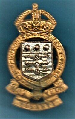 Royal Army Ordnance Corps Officers 1949 - 53 Gilt/silver Metal Cap Badge • 12£