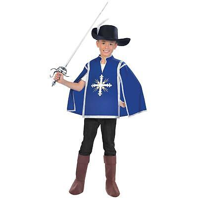 Boys Girls Royal Blue Musketeer Kids Book Day Fancy Dress Costume French Knight • 12.92£