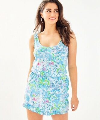 $30 • Buy NWT What A Lovely Place, Lilly Pulitzer Analee Romper Size XS