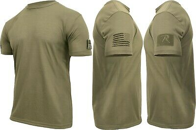 $16.99 • Buy Mens Tactical Athletic Muscle T-Shirt With US Flag & Loop Field