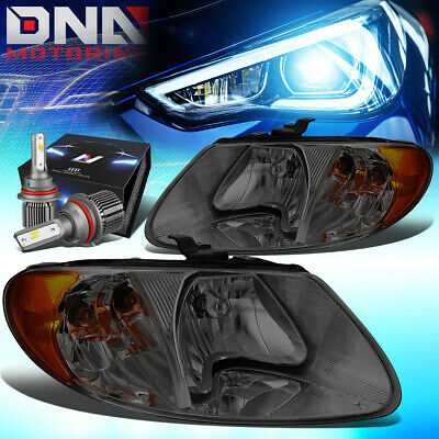 $112.87 • Buy For 2001-2007 Chrysler Town Country Headlights W/led Kit+cool Fan Smoked/amber