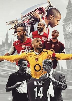 £6.49 • Buy Thierry Henry Arsenal Bb1 Poster Art Print A4 A3 A2 A1 A0 Sizes