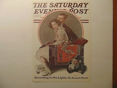 $ CDN10.14 • Buy Saturday Evening Post OCT 1,1921  (REPRINT) Norman Rockwell (COVER ONLY)