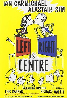 LEFT RIGHT AND CENTRE (1959 Ian Carmichael) - DVD - Region Free - Sealed • 11.95£