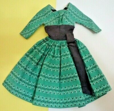 $ CDN13.13 • Buy Vintage BARBIE 1960'S #955 SWINGIN' EASY GREEN Dress Doll Clothes Outfit
