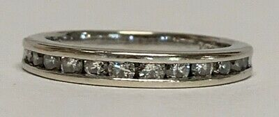 $398.65 • Buy Estate Jewelry 0.50 Ctw Diamond Ring 14K White Gold Band Size 6.5