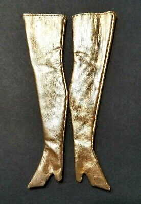 $ CDN85.44 • Buy VINTAGE BARBIE Mod Sears Exclusive #1593 Golden Groove Gold Lame Boots * MINTY