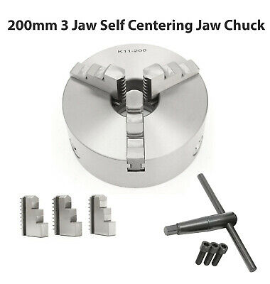 AU209 • Buy 3 Jaw Self Centering Lathe Chuck 200mm 8   Reversable Jaws Recessed Mount K11