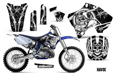 AU176.12 • Buy Yamaha YZ125 YZ250 Dirt Bike Graphic Sticker Kit Decal Wrap MX 1996-2001 HAVOC W