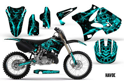 AU176.12 • Buy Yamaha YZ125 YZ250 Dirt Bike Graphic Sticker Kit Decal Wrap MX 2002-2014 HAVOC M