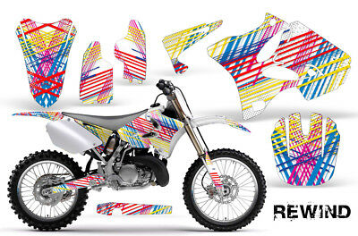 AU176.12 • Buy Yamaha YZ125 YZ250 Dirt Bike Graphic Sticker Kit Decal Wrap MX 2002-2014 REWIND