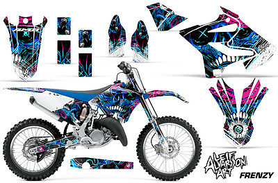 AU176.12 • Buy Yamaha YZ 125/250 Dirt Bike Graphic Sticker Kit Decal Wrap MX 2015-2016 FRENZY