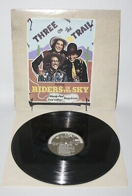 Riders In The Sky - Three On The Trail - 1980 US Vinyl LP - Rounder 0102 • 6.99£