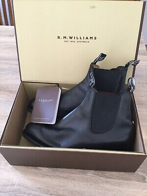 AU195 • Buy Men's RM Williams Boots In  As New  Condition; Black Comfort Tambo, Size 8.5 AU