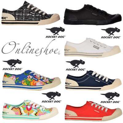 £29.99 • Buy Rocket Dog Jazzin Womens Girls Canvass Flat Lace Up Trainers Assorted Colours