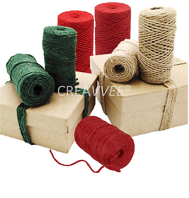 Natural  Green Red 2 Ply  Brown Soft Jute Twine Sisal String Rustic Cord Hessian • 2.99£