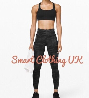 """$ CDN131.48 • Buy Lululemon Leggings Fast And Free HR 7/8 II 25"""" (Incognito Camo )    RRP £128"""