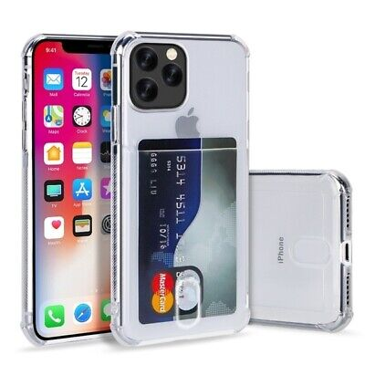 AU7.34 • Buy TPU Gel Case With Card Slot For IPhone 5 6s 7 8 Plus X Xs 11, 12 & 13 Series