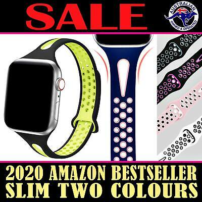 AU3.65 • Buy Sport Silicone Replacement Strap Band For Apple Watch IWatch 5 4 3 2 1 SLIM AUS
