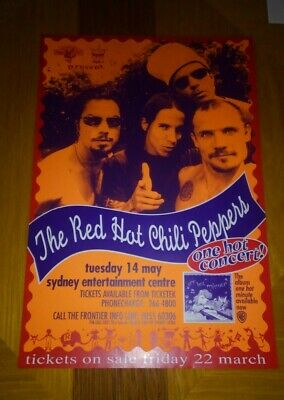 $55 • Buy Several Decade Old Red Hot Chili Peppers 1996 Time Frame Concert Poster Original